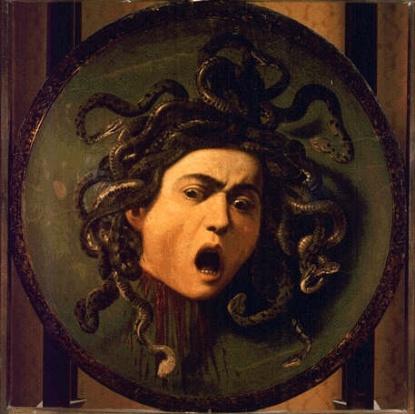 Michelangelo Merisi (Caravaggio): Medusa, Uffizien Florenz, http://www.virtualuffizi.com/medusa.html
